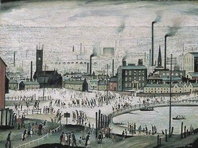 Laurence Stephen Lowry, 'An Industrial Town', 1974