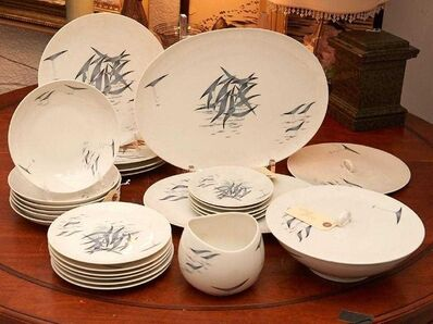 Raymond Loewy, 'Raymond Loewy Rosenthal Art China Porcelain Set Germany Conference Pattern Birds', 1950-1959