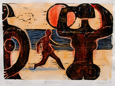 Herbert Siebner, 'Am Strand (On the Beach)', 1981