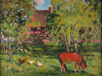 German Alexeevich Tatarinov, 'Summer Farm with Animals', ca. 1980