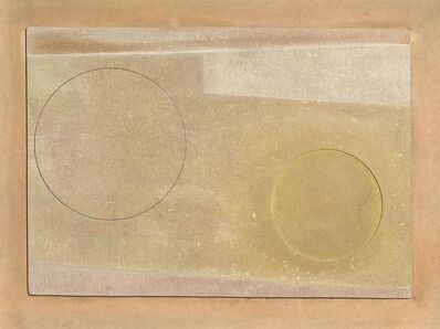 Ben Nicholson, 'Aug 58 (2 circles & green)', 1958