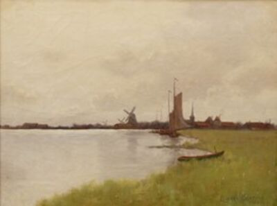 Leonard Ochtman, 'Dutch Landscape', 1886