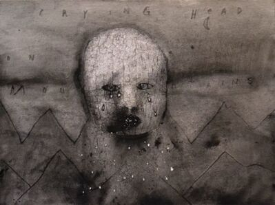 David Lynch, 'Crying Head on Mountains', 2012