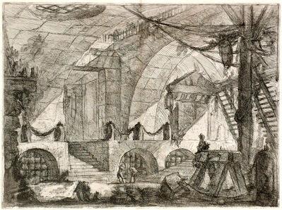 """Giovanni Battista Piranesi, 'The Sawhorse from """"Carceri d'Invenzioni"""" (Imaginary prisons) series', 1749-1760"""