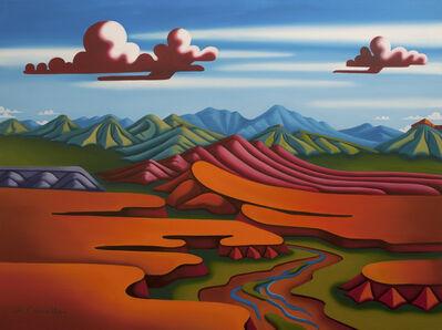 Joseph Comellas, ' Turquoise Springs  (Original oil on canvas) ', 2020