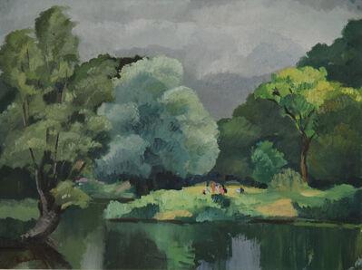 Paulémile Pissarro, 'Personnages le Long de l'Eure', ca. 1925