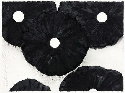 Donald Sultan, 'Black Poppies Oct 11 2018', 2018