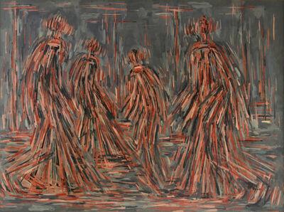 William Turnbull, 'Untitled (Walking Figures)', 1952