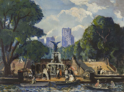 Gifford Beal, 'Bethesda Fountain, Central Park, NYC', 19th -20th Century