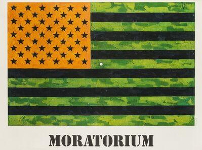 Jasper Johns, 'Moratorium, Flag poster for the National Vietnam Moratorium', 1969