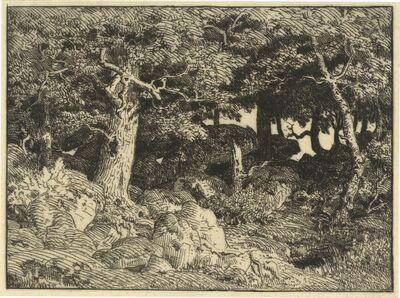 Théodore Rousseau, 'Chenes de Roche (Rock Oaks)', 1861
