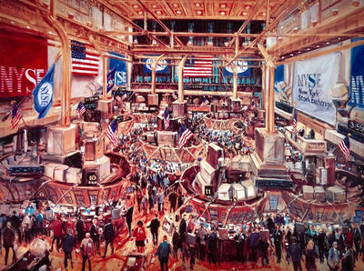 Kamil Kubik, 'New York Stock Exchange Trading Floor'