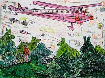 Roy De Forest, 'The Airplane', 1993