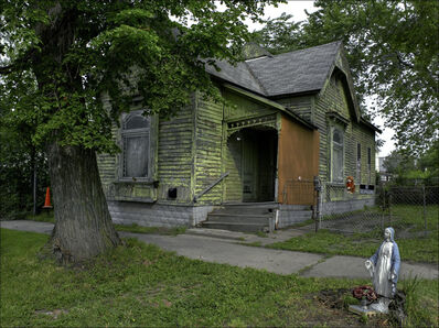 Carlos Diaz, 'Old Green Home & Mary, Beyond Borders,Home Southwest Detroit', 2010