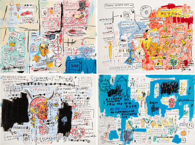 After Jean-Michel Basquiat, 'Ascent, Leeches, Liberty, and Olympic (four works)', 2017