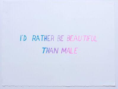 Mark Aguhar, 'I'd Rather Be Beautiful', 2010-2012