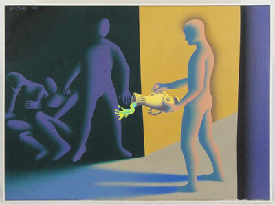 Mark Kostabi, 'Black market waste', 1989