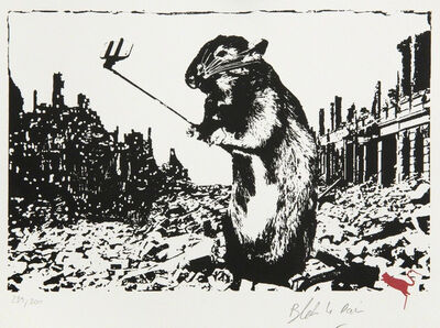 Blek le Rat, 'Rat After the Apocalypse', 2017