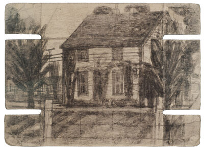 James Castle, 'Untitled (House with trees; verso: shed)', n.d.