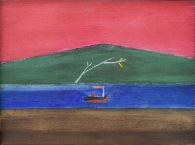 Craigie Aitchison, 'Scottish Landscape (Aran)', 1993