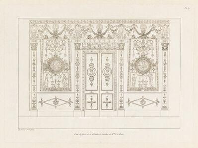 Charles Percier, 'L'Une des Faces de la Chambre à Coucher de Mme G. à Paris', 1812