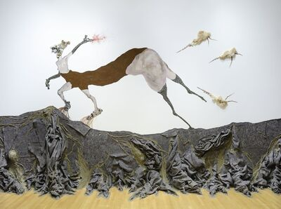 Wangechi Mutu, 'Once upon a time she said, I'm not afraid and her enemies began to fear her The End', 2013