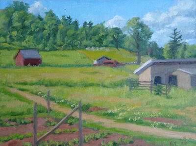 Ella Yang, 'Garden at Base of Farm Hill', 2020