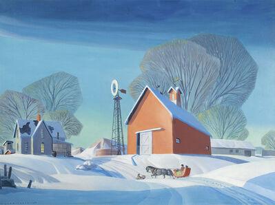 Dale Nichols, 'Winter on the Farm', 1961