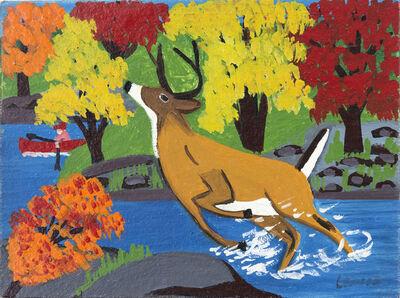 Maud Lewis, 'Deer in Stream'