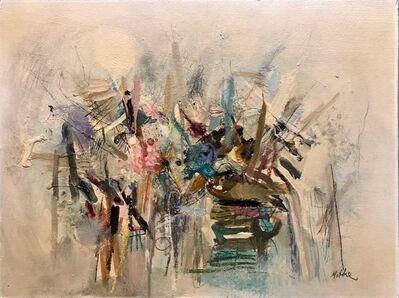 Motke Blum, 'Israeli Modernist Abstract Expressionist Oil Painting ', Mid-20th Century