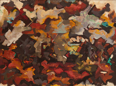 Audrey Flack, 'Abstract Expressionist Landscape (With Clouds)', 1951