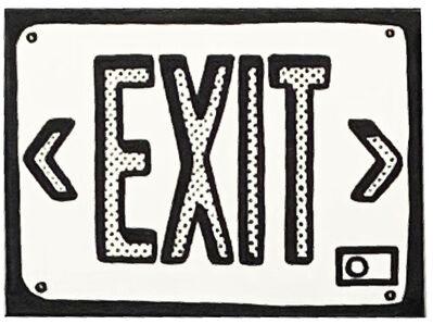 Joshua Vides, 'Exit Sign', 2019