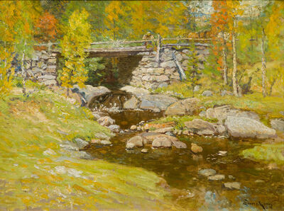 John Joseph Enneking, 'Brook in Autumn', 19th -20th Century