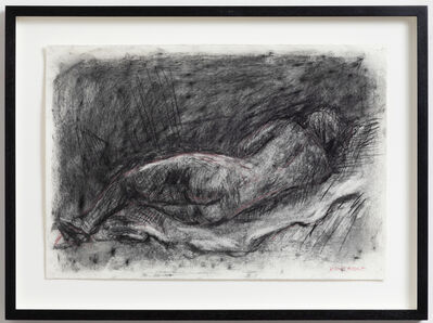 William Kentridge, 'Reclining Nude, Rembrandt Etching (Drawing for Studio Life)', 2020