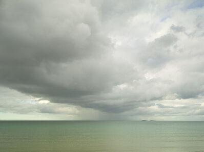 Donald Weber, 'Utah Beach - April 29, 2015, 6:38pm. 10ºC, 81% RELH, Wind WSW, 11 Knots. VIS: Broken Clouds, Moderate Rain', 2015