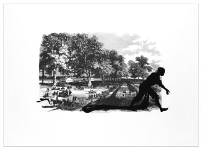 Kara Walker, 'Banks's Army Leaving Simmsport from Harper's Pictorial History of the Civil War (Annotated)', 2005