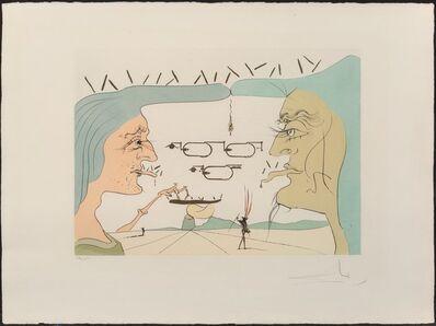 Salvador Dalí, 'Le telegraphe, from Hommage a Leonardo da Vinci', 1975