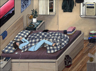 Paige Jiyoung Moon, 'Apartment #A - Bedroom', 2015