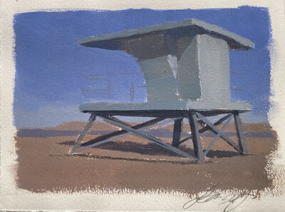 Francis DiFronzo, 'Study for Lifeguard Shack', 2018