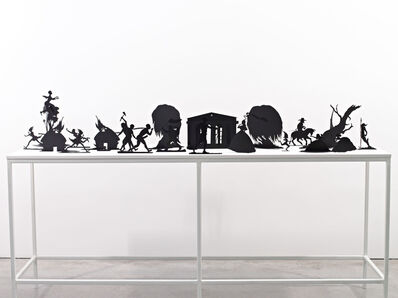 Kara Walker, 'Burning African Village Play Set with Big House and Lynching', 2006