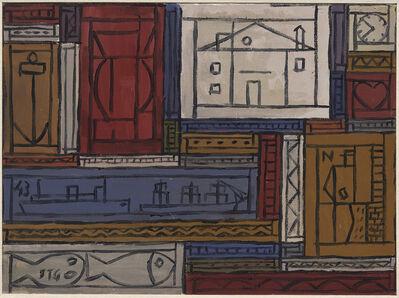 Joaquín Torres-García, 'Grafismo universal sobre plano de color', 1943