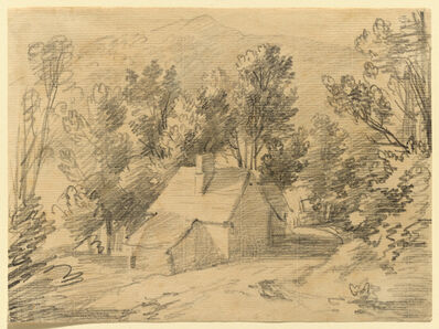 Thomas Gainsborough, 'Study of a House and Shed in a Wooded Valley', ca. 1783