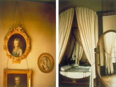 Seton Smith, 'Ladies Portrait and Oval Bed (Diptych)', 1993