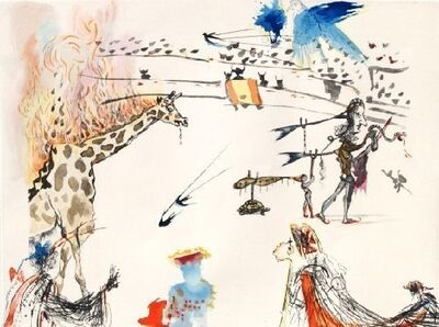 Salvador Dalí, 'The Burning Giraffe from the Tauromachie Suite', 1966-1967