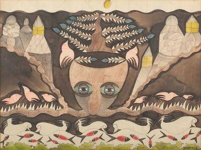 Scottie Wilson, 'Composition with self portrait'
