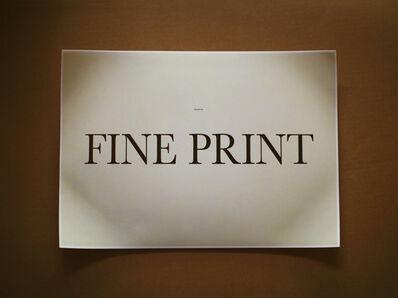 Dennis Dugan, 'Fine Print', 2017