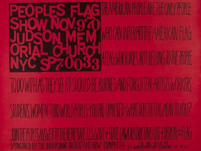 Faith Ringgold, 'People's Flag Show', 1970