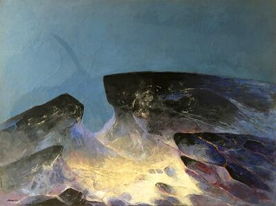 Byron Galvez, 'Rocas y Cielos', 1973