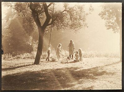 Léonard Misonne, 'Picking Fruit off the Ground', 1920s