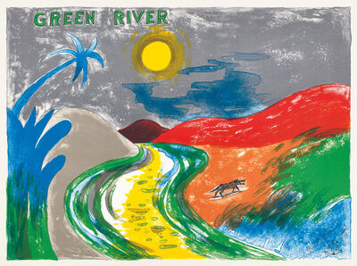 H.C. Westermann, 'Green River, from Six Lithographs (A. & B. 19C)', 1972